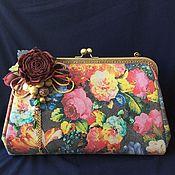 Сумки и аксессуары handmade. Livemaster - original item Summer handbag made of leather with a clasp Lady rose. Handmade.