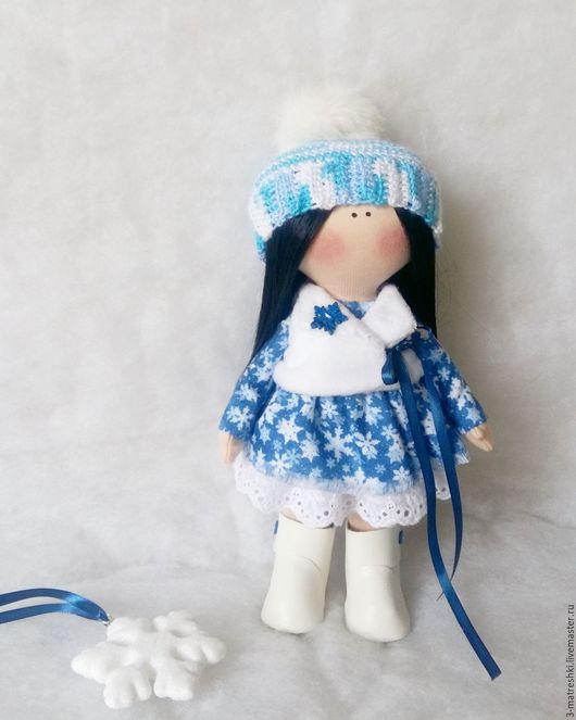 Коллекционные куклы ручной работы. Ярмарка Мастеров - ручная работа. Купить Текстильная кукла Мила. Handmade. Синий, для девушки, подарок