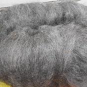 Материалы для творчества ручной работы. Ярмарка Мастеров - ручная работа козий пух светло-серый перечесанный. Handmade.