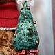 Мишки Тедди ручной работы. Рождественский мишка. Марина Струк. Интернет-магазин Ярмарка Мастеров. Тедди мишка, рыжий
