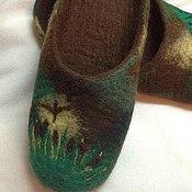 """Обувь ручной работы. Ярмарка Мастеров - ручная работа Мужские тапочки """"Утиная охота"""". Handmade."""