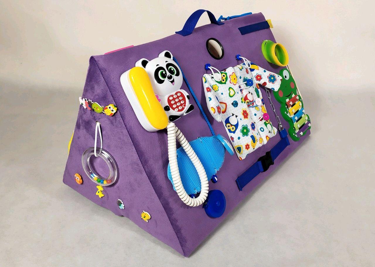 Мягкий бизиборд макси Фиолетовый, Бизиборды, Новосибирск,  Фото №1
