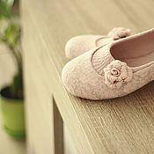 """Обувь ручной работы. Ярмарка Мастеров - ручная работа """"Танго"""" туфельки балетки валяные.. Handmade."""