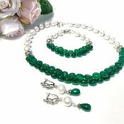 Украшения handmade. Livemaster - original item Necklace and bracelet made of chrysoprase