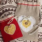 Сувениры и подарки ручной работы. Ярмарка Мастеров - ручная работа Мешочки льняные подарочные. Handmade.