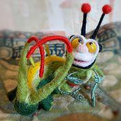 Куклы и игрушки ручной работы. Ярмарка Мастеров - ручная работа Гусеница. Handmade.