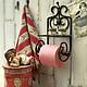 Ванная комната ручной работы. Ярмарка Мастеров - ручная работа. Купить держатель для туалетной бумаги Винтажное сердце. Handmade. дача
