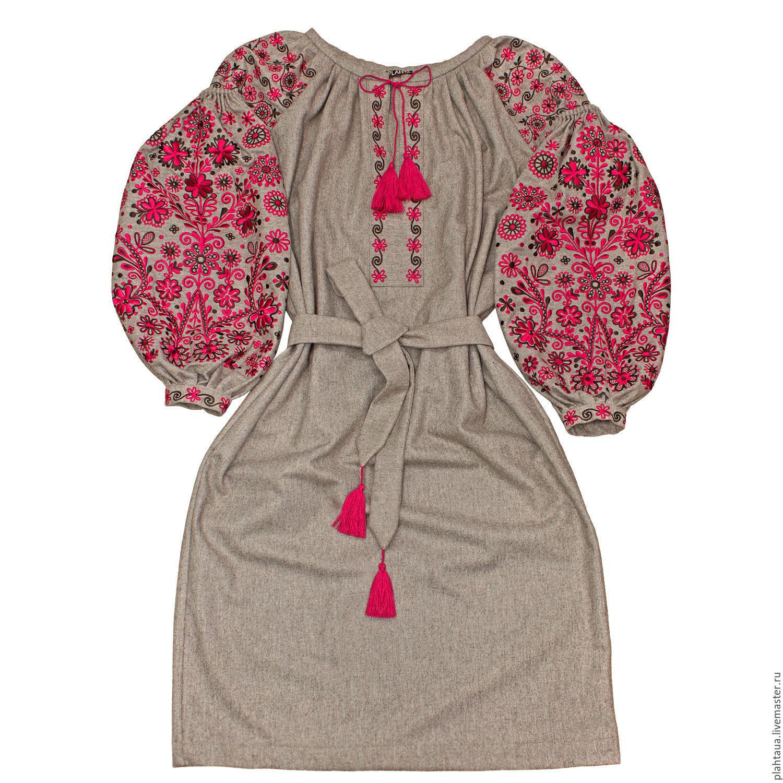 Платья ручной работы. Ярмарка Мастеров - ручная работа. Купить Шерстяное  платье-вышиванка   ... 3f76fc9e13b58
