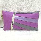 "Сумки и аксессуары handmade. Livemaster - original item Bag ""Sweet lilac"",leather,lilac,grey,pink,clutch,fashion. Handmade."