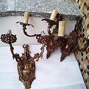 Винтаж ручной работы. Ярмарка Мастеров - ручная работа 3 настенные бра с путти  винтаж, Италия. Handmade.