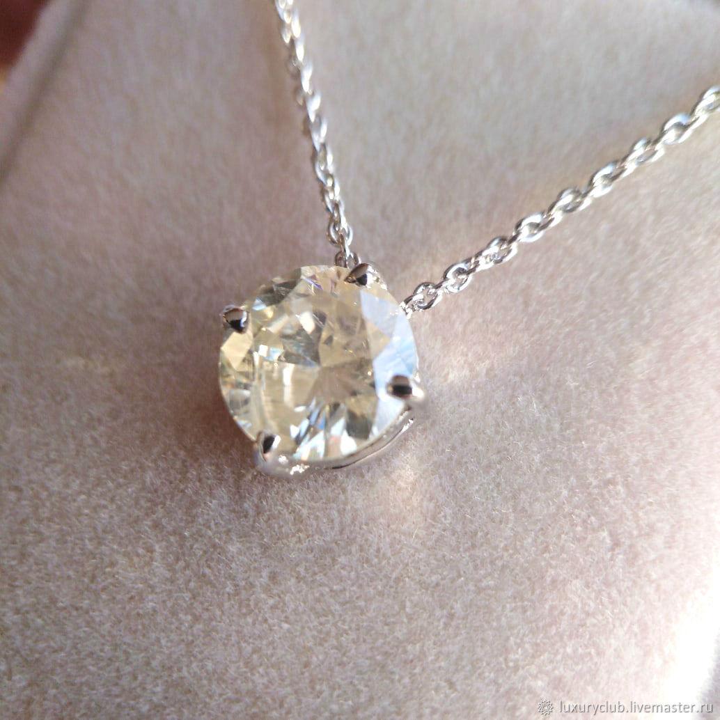 2.55 ct diamond slider Pendant with a diamond 'ice baby' buy, Pendants, Tolyatti,  Фото №1