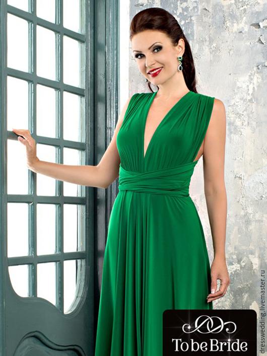 Платья ручной работы. Ярмарка Мастеров - ручная работа. Купить Платье трансформер. Handmade. Зеленый, платье на свадьбу, платье трансформеры