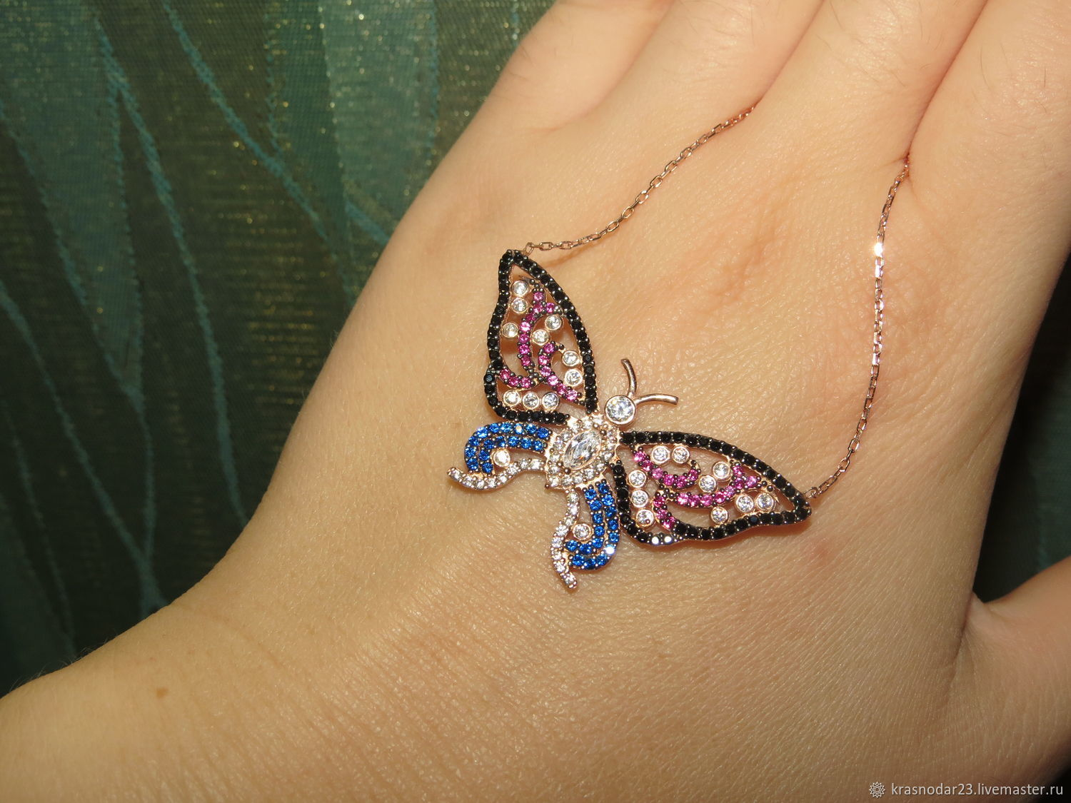 Pendants handmade. Livemaster - handmade. Buy pendant 'Summer babe' from 925 sterling silver with gold.Pendant butterfly