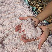 Косметика ручной работы handmade. Livemaster - original item Cosmetic pink salt, mined in the manual of Oyburskiy lake. Handmade.