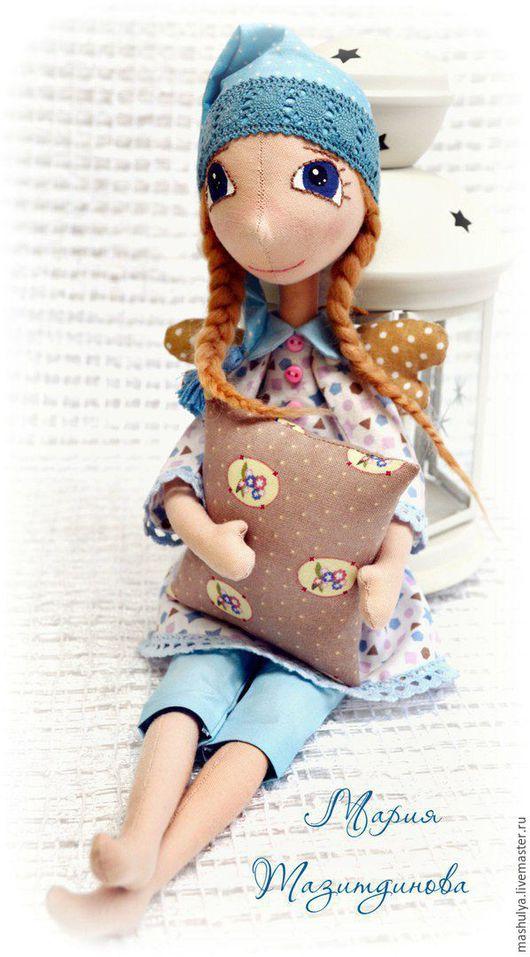 Куклы тыквоголовки ручной работы. Ярмарка Мастеров - ручная работа. Купить Сонный ангел. Handmade. Комбинированный, сон, сплюшка