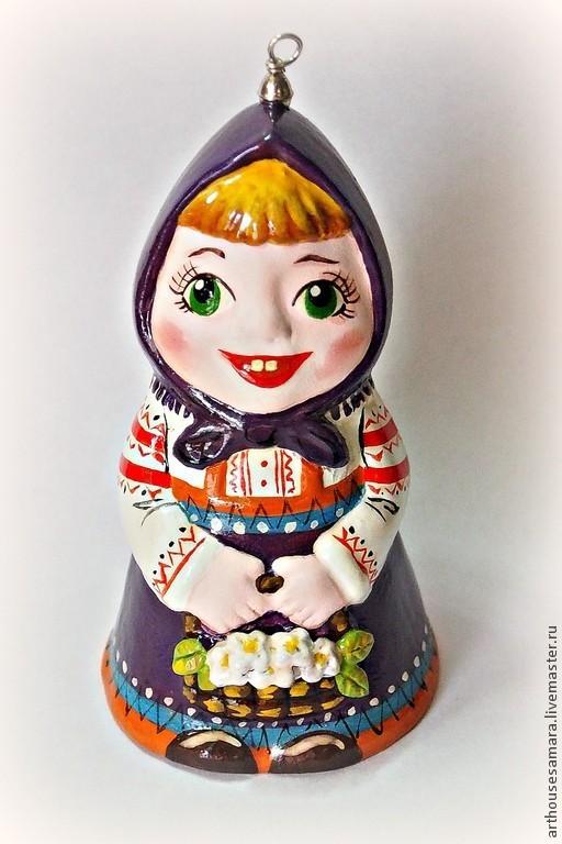 """Колокольчики ручной работы. Ярмарка Мастеров - ручная работа. Купить Керамический колокольчик """"Маша"""". Handmade. Фиолетовый, керамический колокольчик"""