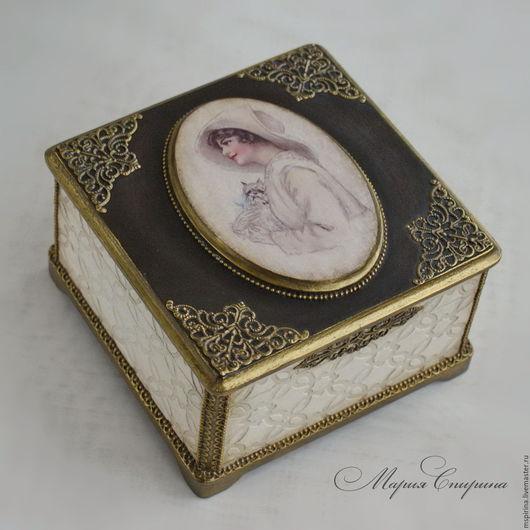 Шкатулка для украшений, шкатулка ручной работы, шкатулка в подарок, шкатулка, шкатулочка, для украшений, шкатулка для украшений, маленькая шкатулка,изящный подарок, шкатулка винтажная, маша спирина
