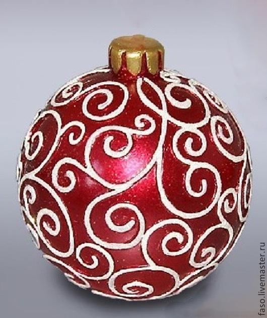 Другие виды рукоделия ручной работы. Ярмарка Мастеров - ручная работа. Купить Силиконовая форма Новогодний шар-3. Handmade.