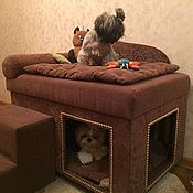 Для домашних животных, handmade. Livemaster - original item Dog houses with the couch top, suitable and a cat.. Handmade.