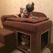 Для домашних животных, ручной работы. Ярмарка Мастеров - ручная работа Домик для собаки с диванчиком сверху, который подойдет и кошке.. Handmade.
