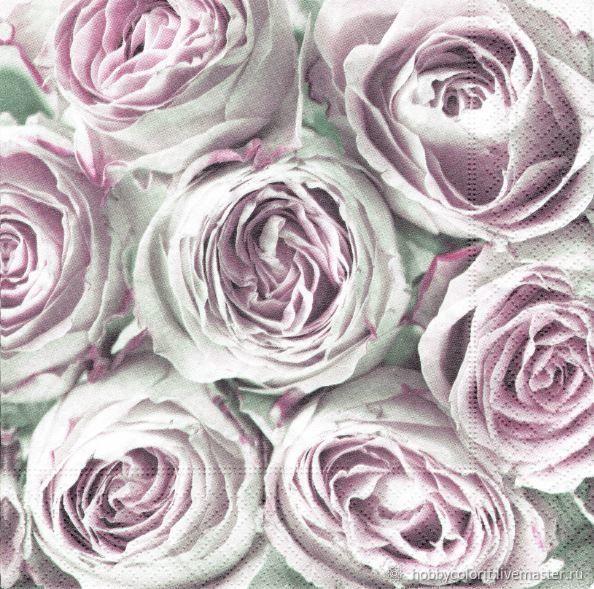 Салфетки трехсл для декупажа,Sagen Vintage Design Розовае розы 33х33см, Салфетки для декупажа, Москва, Фото №1