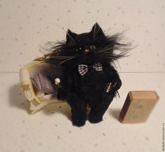 Игрушки животные, ручной работы. Ярмарка Мастеров - ручная работа. Купить кот Бегемот №3. Handmade. Черный
