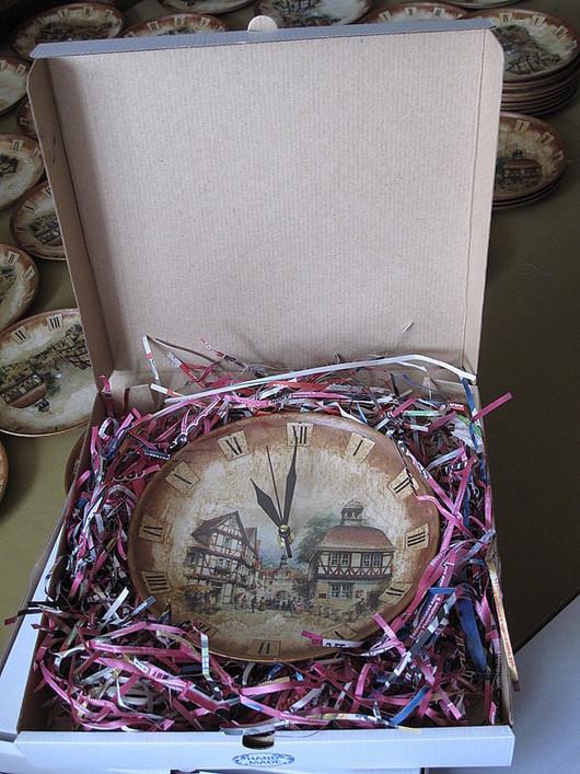 Часы для дома ручной работы. Ярмарка Мастеров - ручная работа. Купить Корпоративный заказ. Часы Немецкий город. Handmade.