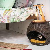 Домик для питомца ручной работы. Ярмарка Мастеров - ручная работа Плетёный домик для питомца. Handmade.