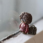 Мини фигурки и статуэтки ручной работы. Ярмарка Мастеров - ручная работа Домовенок Кузя. Сувенир. Handmade.