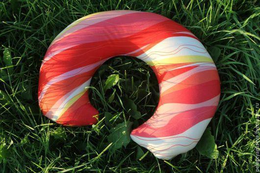 """Текстиль, ковры ручной работы. Ярмарка Мастеров - ручная работа. Купить Подушка """"Коралловые волны"""". Handmade. Разноцветный, подушка на диван"""