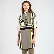 Одежда ручной работы. Ярмарка Мастеров - ручная работа -50%  Платье-рубашка с принтом. Handmade.
