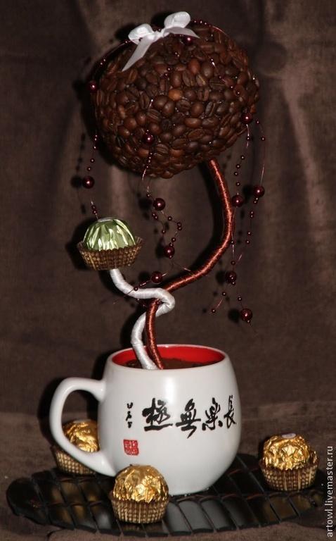 Персональные подарки ручной работы. Ярмарка Мастеров - ручная работа. Купить Кофейное дерево. Handmade. Коричневый, кофейное дерево