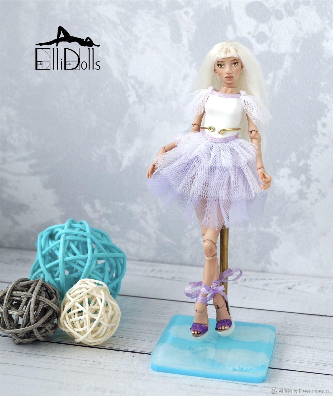 12 см Клаудия. Миниатюрная шарнирная кукла от Ellidolls, Шарнирная кукла, Краснодар,  Фото №1