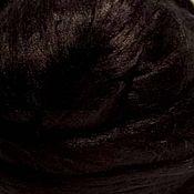 Материалы для творчества ручной работы. Ярмарка Мастеров - ручная работа Шелк Малбери. Черный. Handmade.