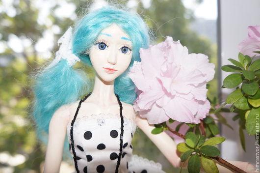 Коллекционные куклы ручной работы. Ярмарка Мастеров - ручная работа. Купить Шарнирная кукла Мальвина. Handmade. Голубой, шарнирная кукла