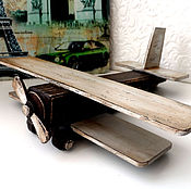 """Куклы и игрушки ручной работы. Ярмарка Мастеров - ручная работа Самолетик """"Ретро"""". Handmade."""