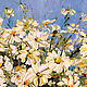 Order Oil painting of Daisies in a clear vase with White flowers. Zabaikalie. Livemaster. . Pictures Фото №3