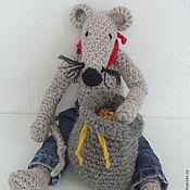 Куклы и игрушки ручной работы. Ярмарка Мастеров - ручная работа Вязаная мышь-ковбой. Handmade.