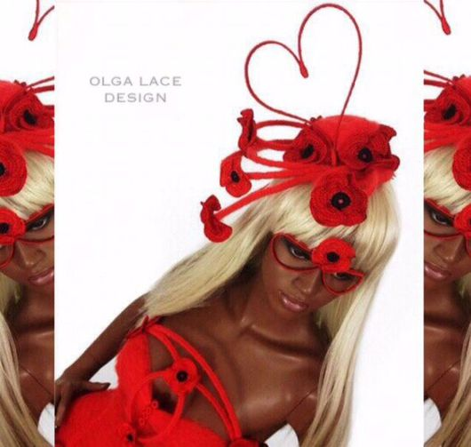 """Шляпы ручной работы. Ярмарка Мастеров - ручная работа. Купить Арт - шляпка  """"Valentine's Day"""" от Olga Lace. Handmade."""