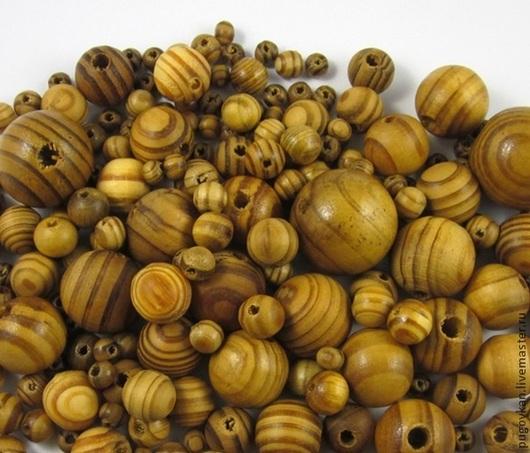 Для украшений ручной работы. Ярмарка Мастеров - ручная работа. Купить Деревянные бусины 6,8,11,12,16 мм. Handmade.