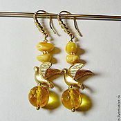 Украшения handmade. Livemaster - original item Amber earrings