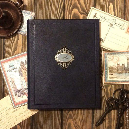 Фотоальбомы ручной работы. Ярмарка Мастеров - ручная работа. Купить Семейный фотоальбом в кожаном переплете. Handmade. Семейный подарок