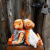 Куклы и игрушки ручной работы. Ярмарка Мастеров - ручная работа Большие мишки Тедди Влюбленная пара винтажный стиль. Handmade.