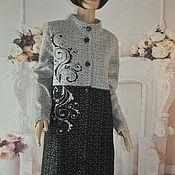Одежда handmade. Livemaster - original item Knitted coat, demi-season, ,46-48,50-52,54-56, , p.. Handmade.