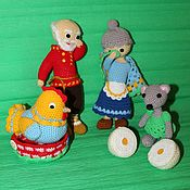 Куклы и игрушки handmade. Livemaster - original item Puppet theatre: Knitted toys, fairy tale characters, little red hen. Handmade.