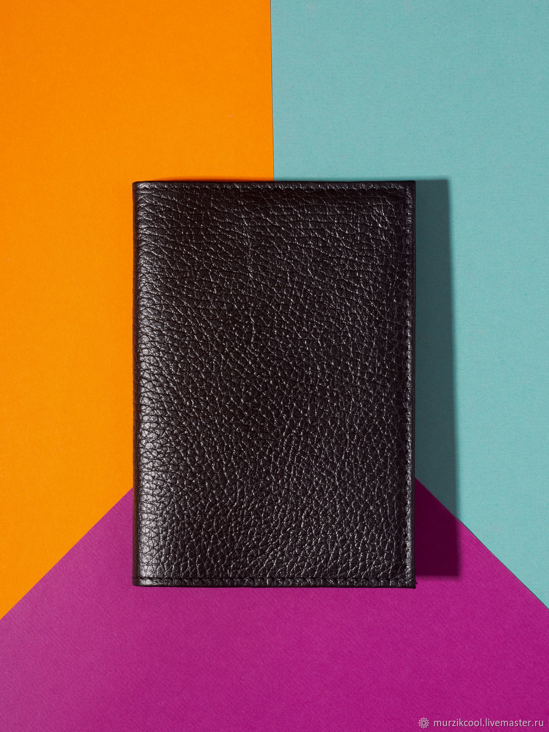 Passport cover 'Classic' Black, Cover, Moscow,  Фото №1