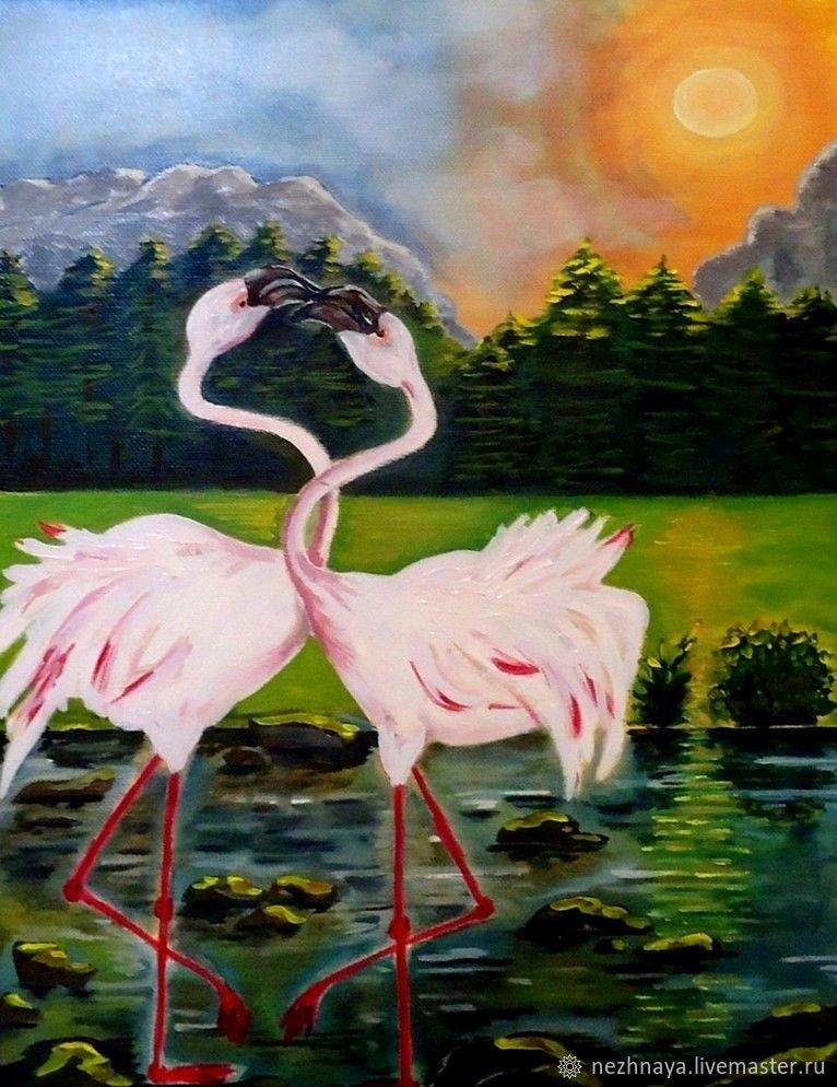 "Картина ""Фламинго"", Картины, Ростов-на-Дону,  Фото №1"