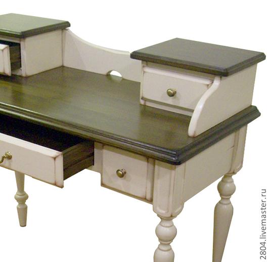 """Мебель ручной работы. Ярмарка Мастеров - ручная работа. Купить Бюро секретер Винтажный стиль """"Белый и бежевый прованс"""". Handmade."""