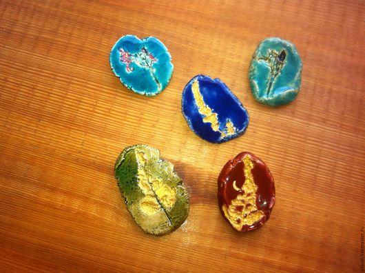 Броши ручной работы. Ярмарка Мастеров - ручная работа. Купить Керамические броши. Handmade. Комбинированный, керамические украшения, броши