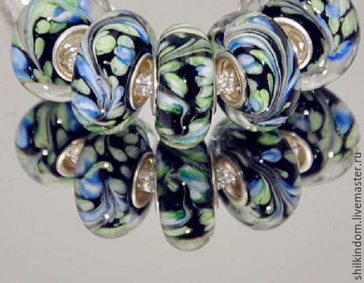 """Для украшений ручной работы. Ярмарка Мастеров - ручная работа. Купить Шарм """"Голубая ель"""" с серебром 925 пробы. Handmade."""